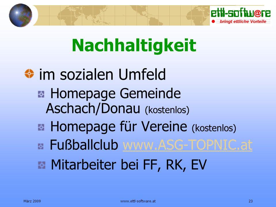 Nachhaltigkeit im sozialen Umfeld Mitarbeiter bei FF, RK, EV