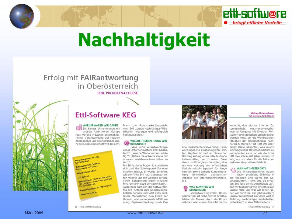 Nachhaltigkeit März 2009 www.ettl-software.at
