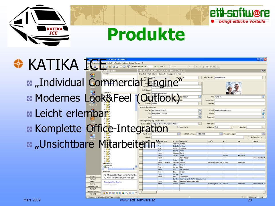 "Produkte KATIKA ICE ""Individual Commercial Engine"