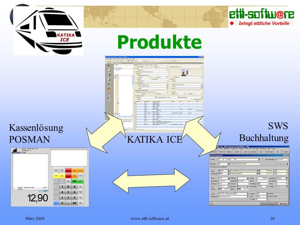 Produkte SWS Kassenlösung Buchhaltung POSMAN KATIKA ICE März 2009