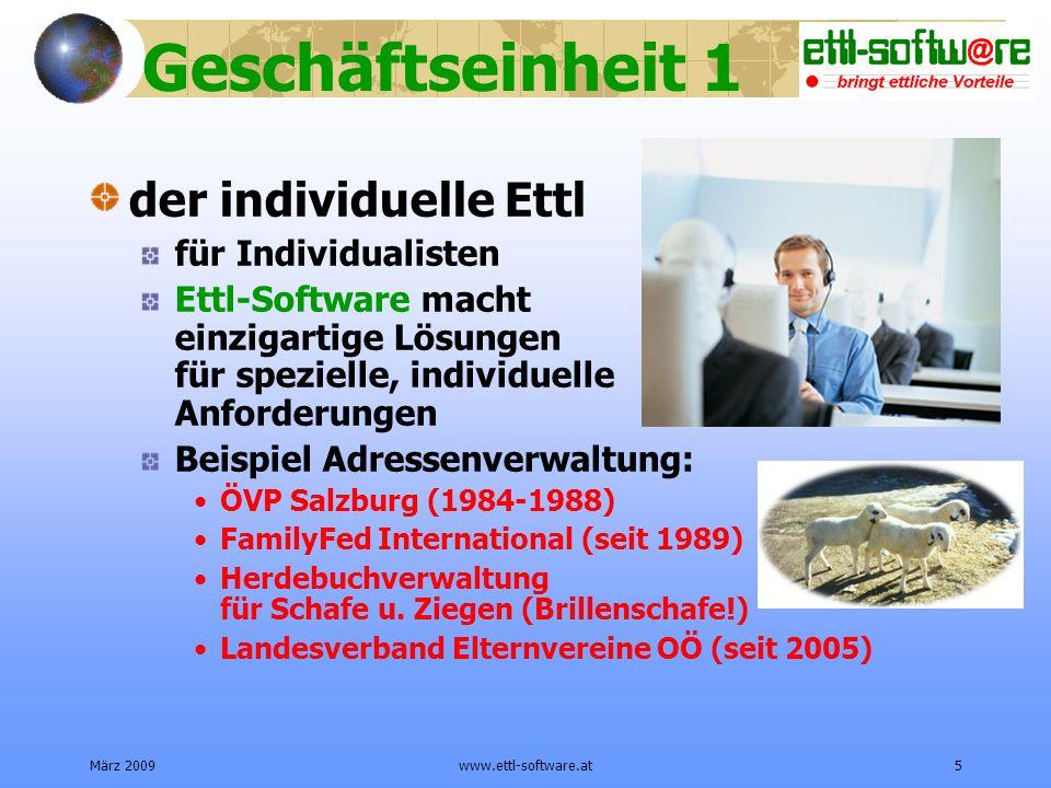 Geschäftseinheit 1 der individuelle Ettl für Individualisten