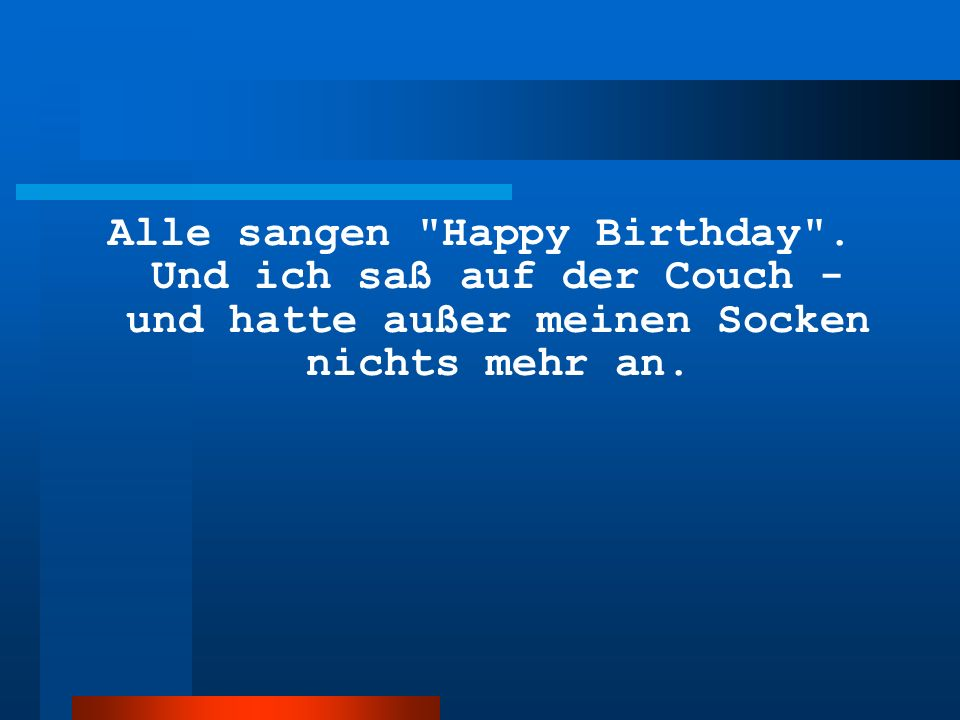 Alle sangen Happy Birthday