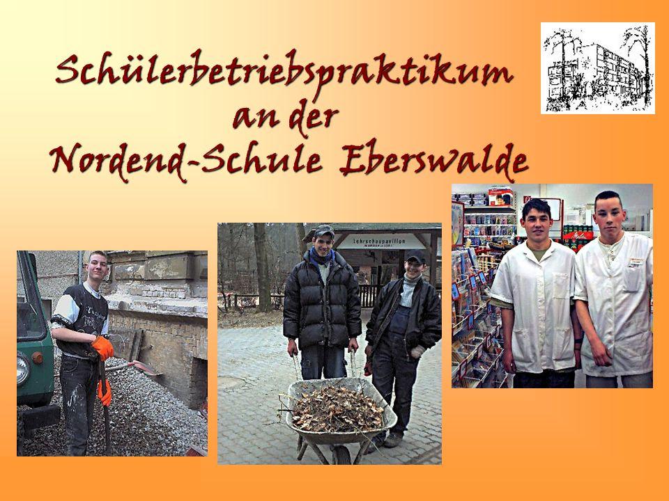 Schülerbetriebspraktikum an der Nordend-Schule Eberswalde