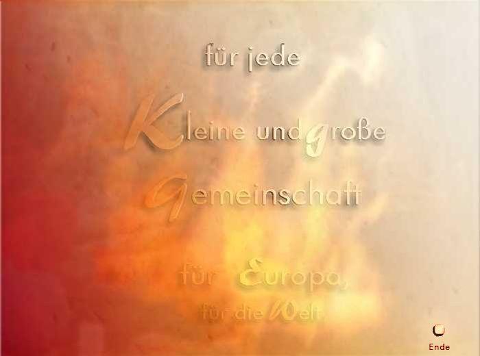 Für Europa, für die Welt Ende