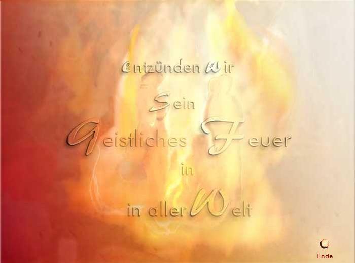 Sein geistliches Feuer