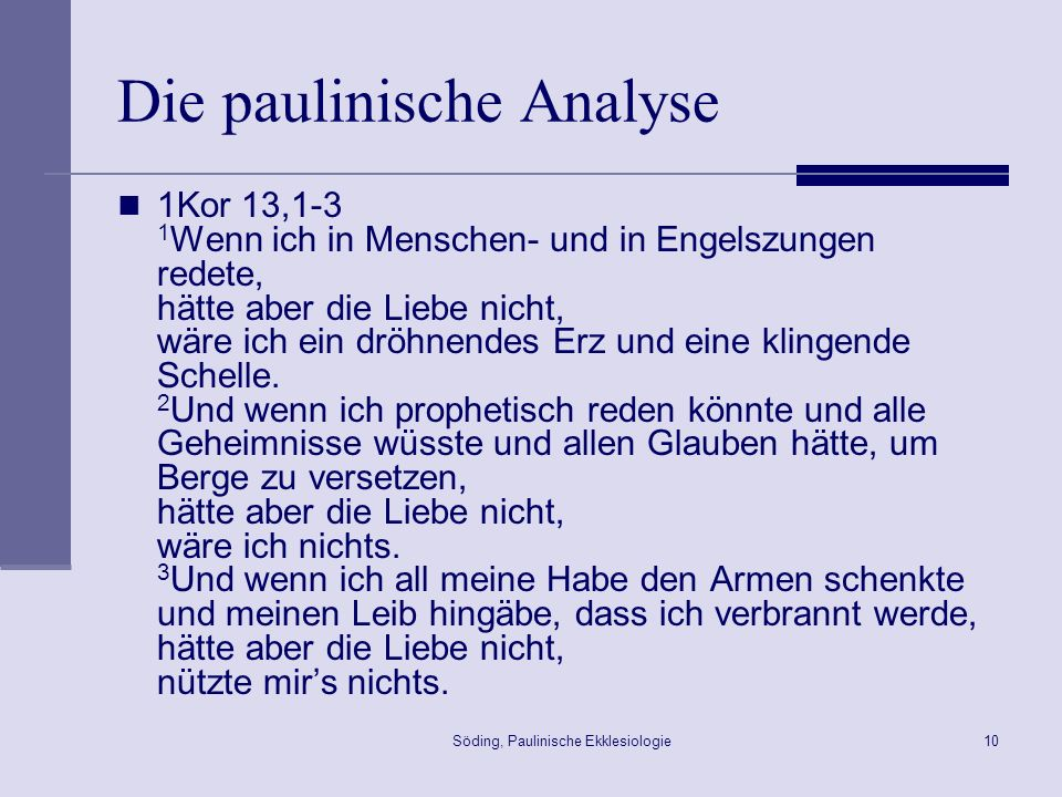 Die paulinische Analyse