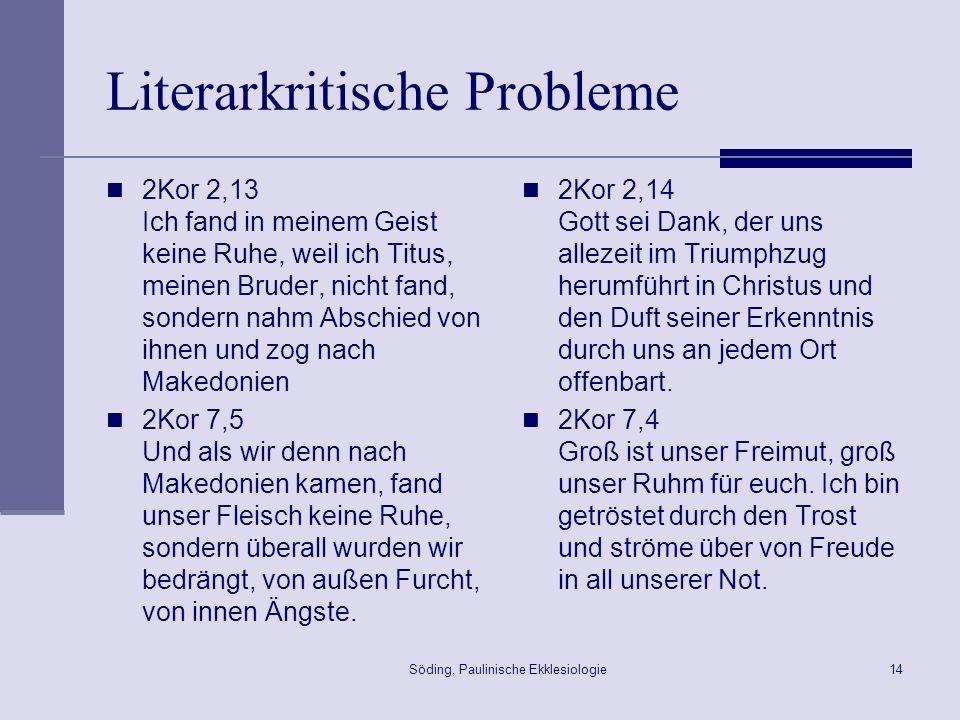 Literarkritische Probleme