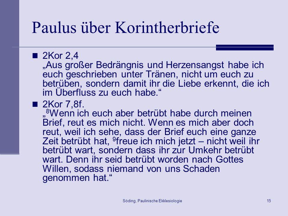 Paulus über Korintherbriefe