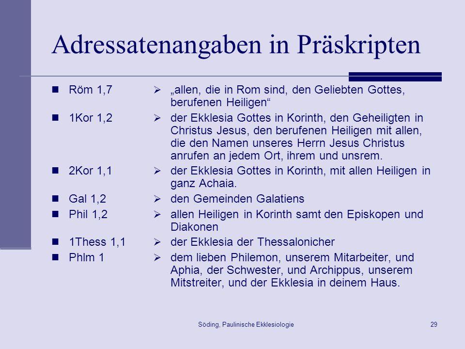 Adressatenangaben in Präskripten