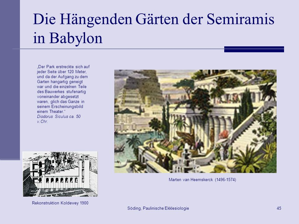 Die Hängenden Gärten der Semiramis in Babylon