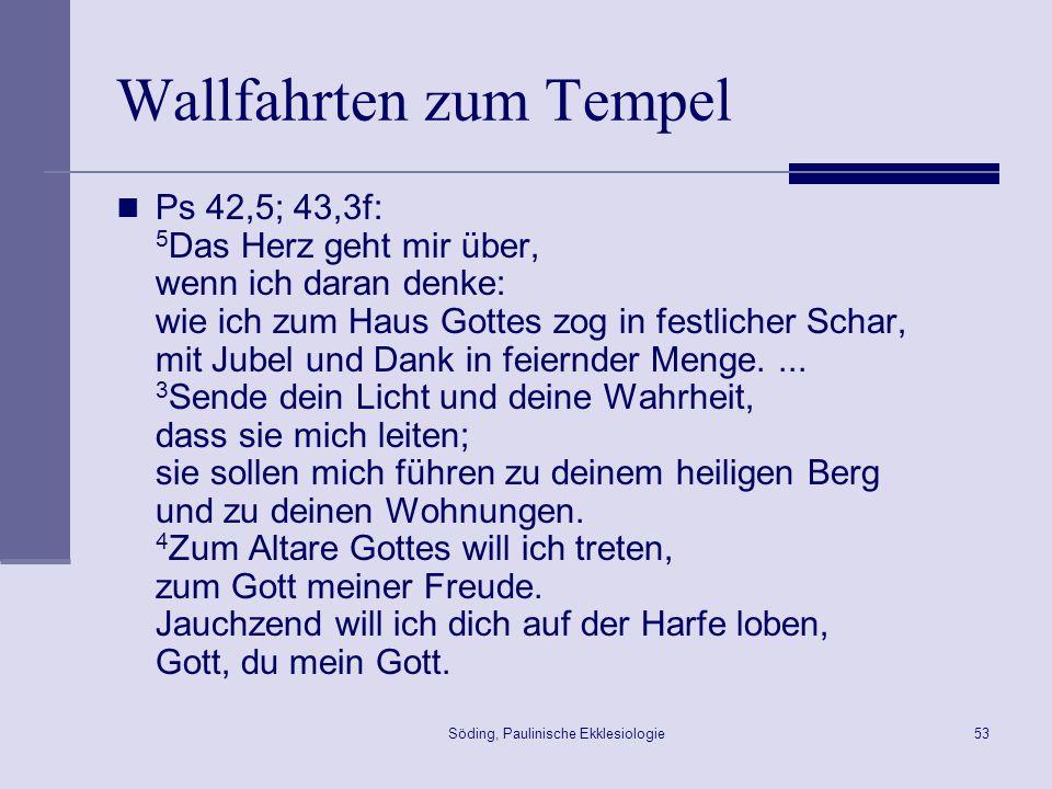 Wallfahrten zum Tempel