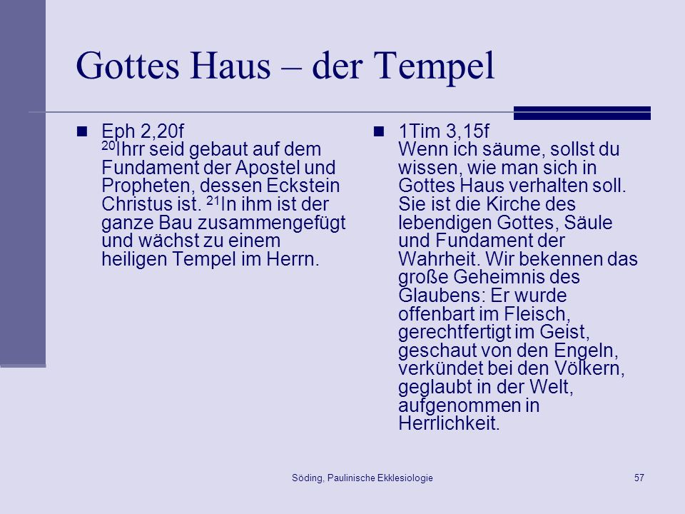 Gottes Haus – der Tempel