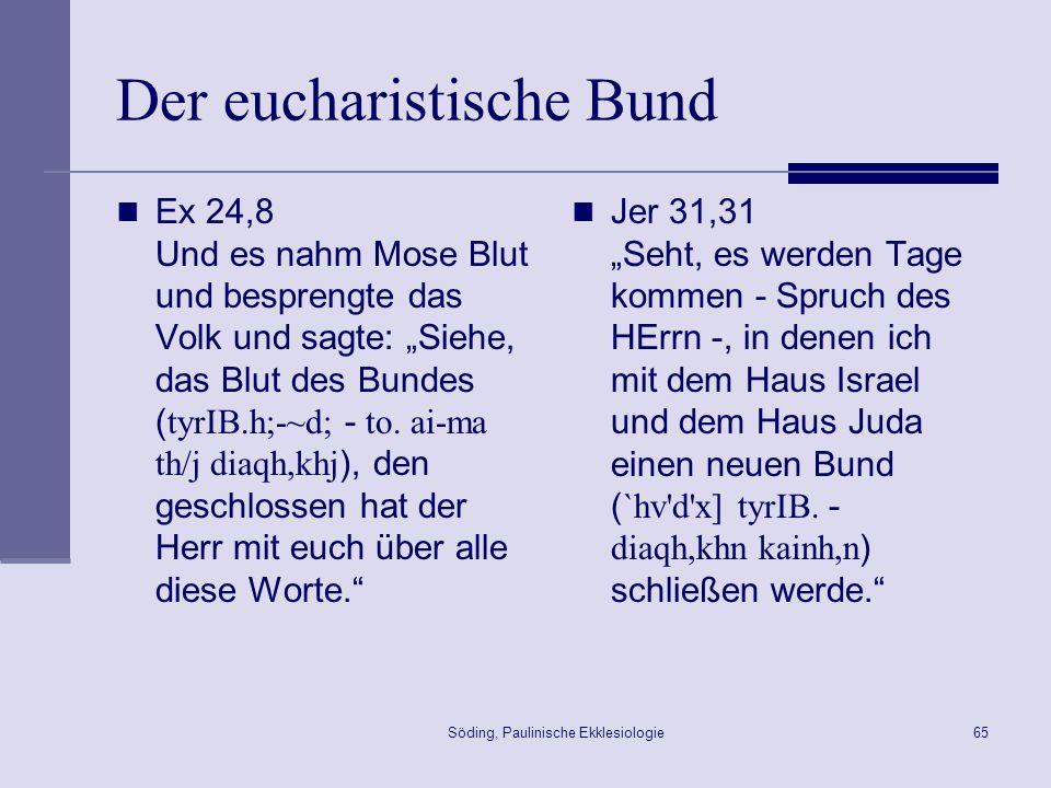 Der eucharistische Bund