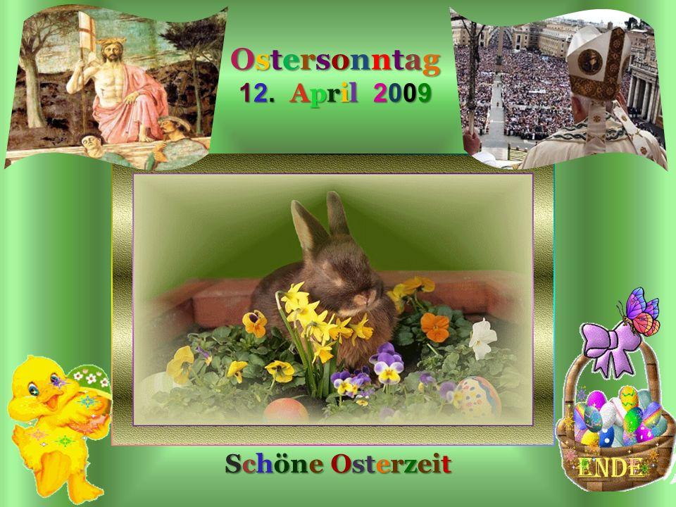 Auferstehung Urbi Et Orbi Ostersonntag 12. April 2009 Schöne Osterzeit