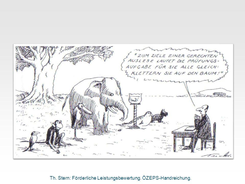 Th. Stern: Förderliche Leistungsbewertung. ÖZEPS-Handreichung.