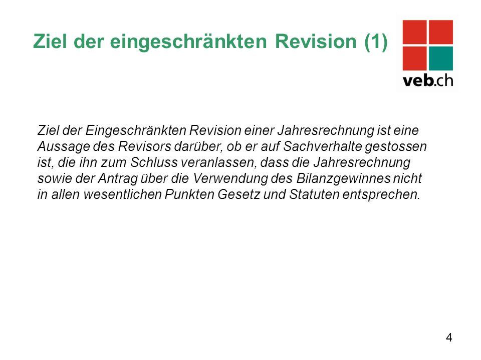 Ziel der eingeschränkten Revision (1)