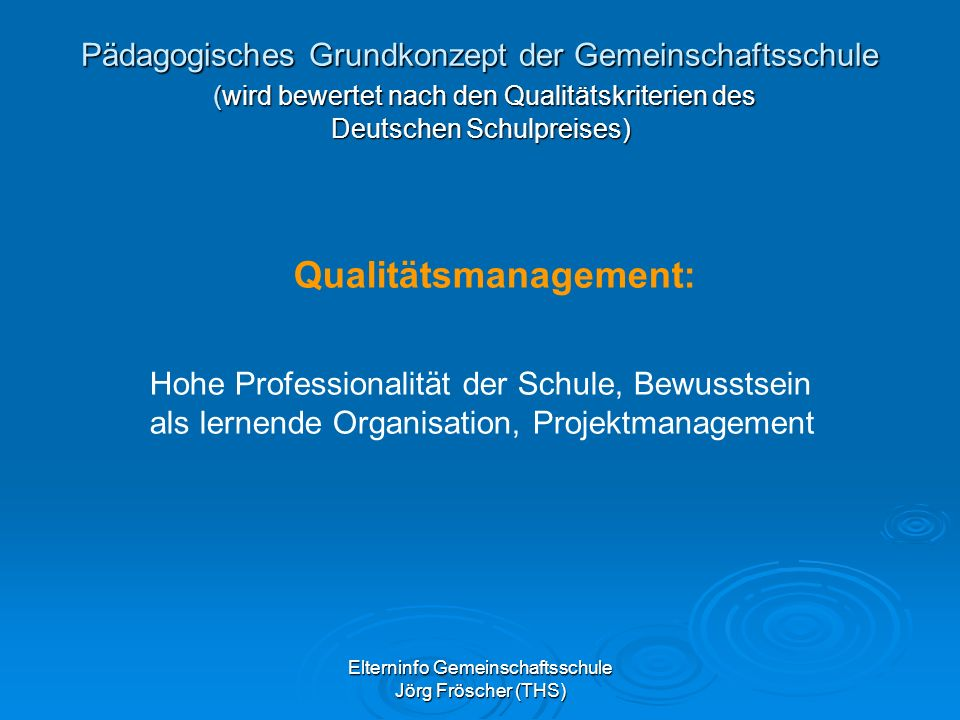 Qualitätsmanagement: