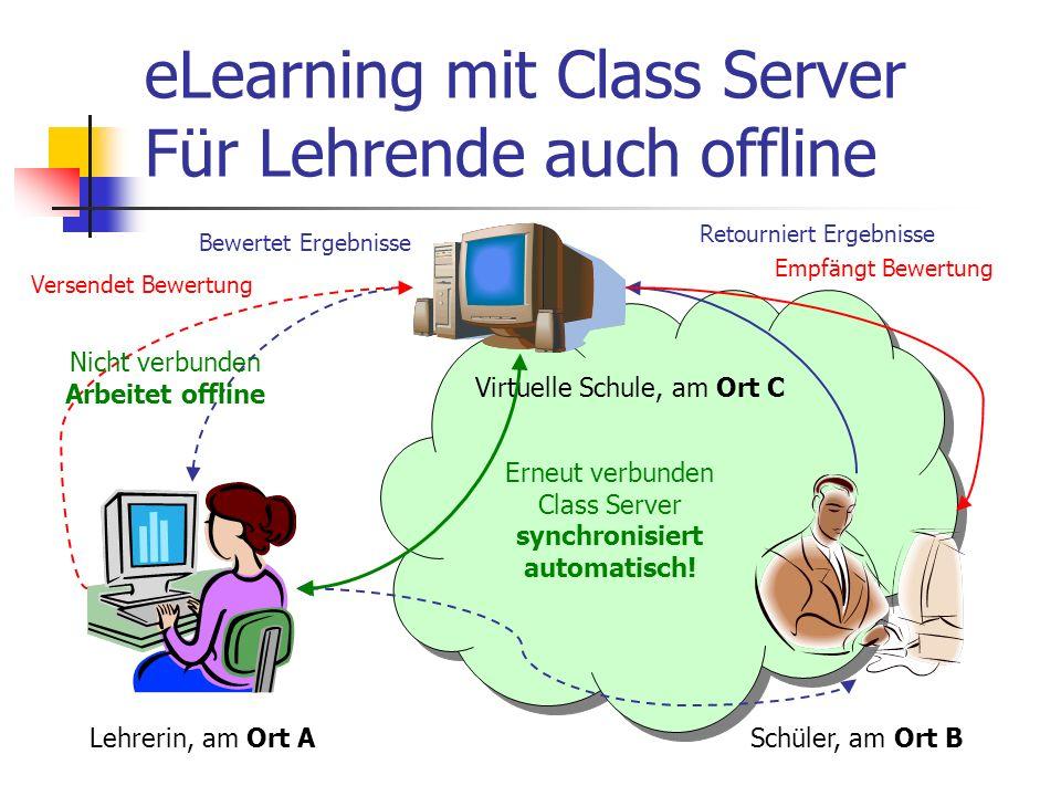 eLearning mit Class Server Für Lehrende auch offline