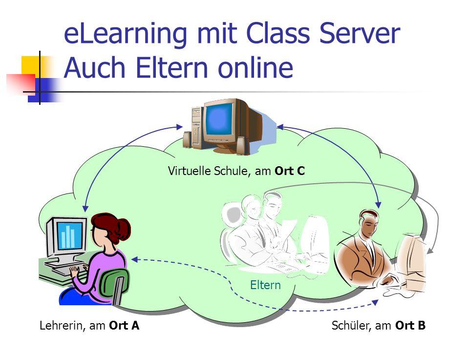 eLearning mit Class Server Auch Eltern online