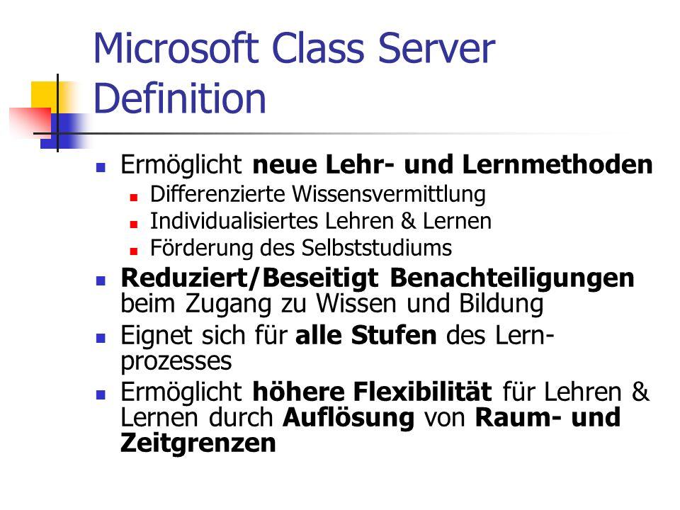 Microsoft Class Server Definition