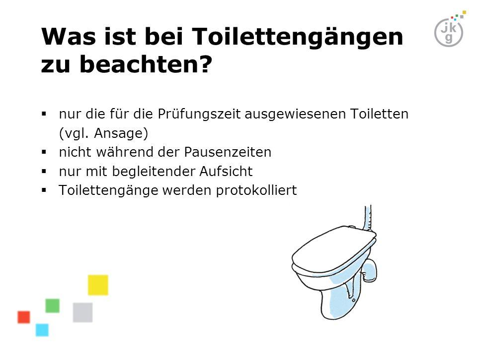 Was ist bei Toilettengängen zu beachten