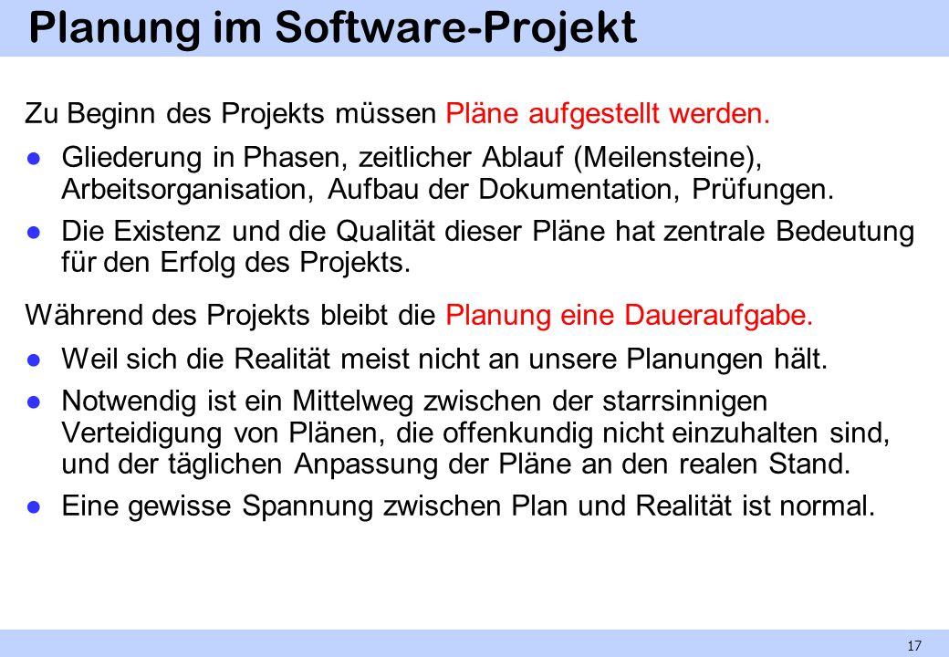 Planung im Software-Projekt