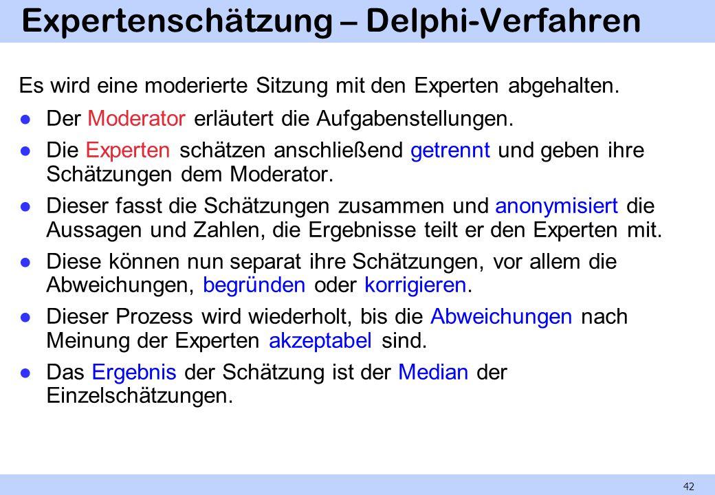 Expertenschätzung – Delphi-Verfahren