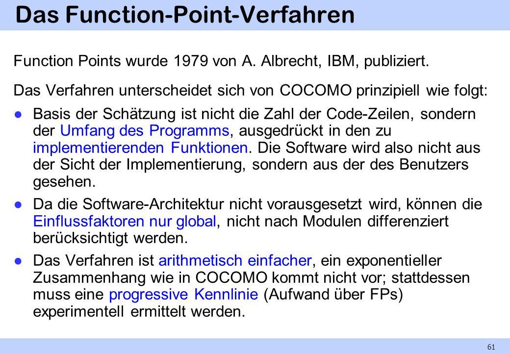 Das Function-Point-Verfahren