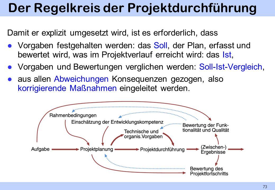 Der Regelkreis der Projektdurchführung