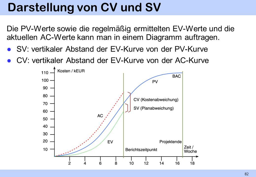 Darstellung von CV und SV