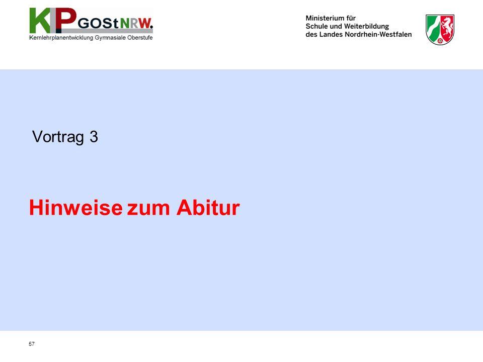 Vortrag 3 Hinweise zum Abitur