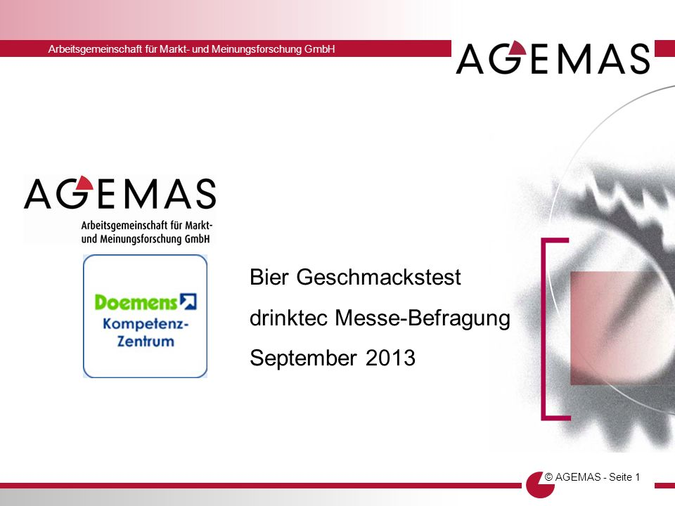 Bier Geschmackstest drinktec Messe-Befragung September 2013