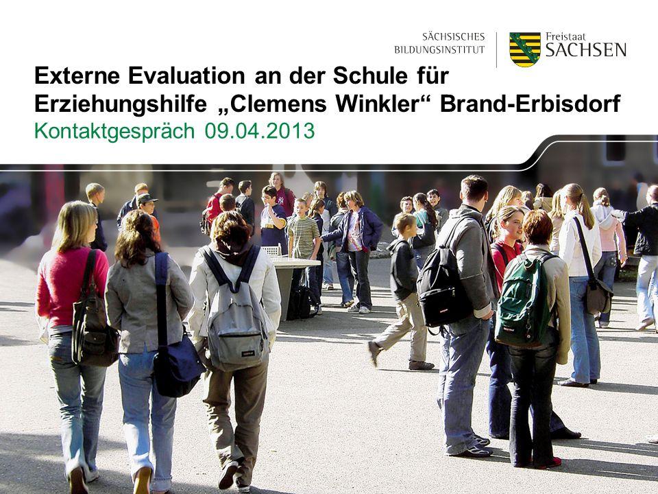 """Externe Evaluation an der Schule für Erziehungshilfe """"Clemens Winkler Brand-Erbisdorf"""
