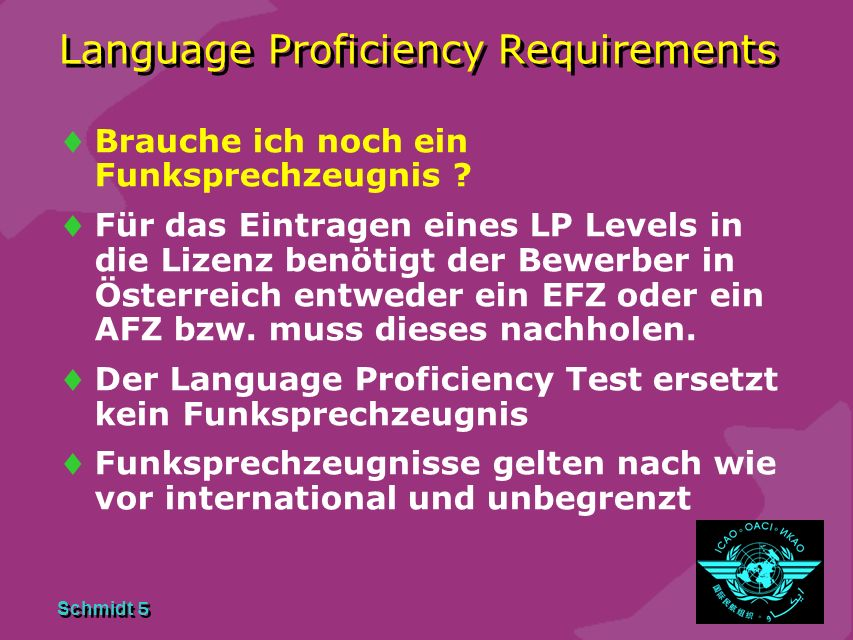 Language Proficiency Requirements