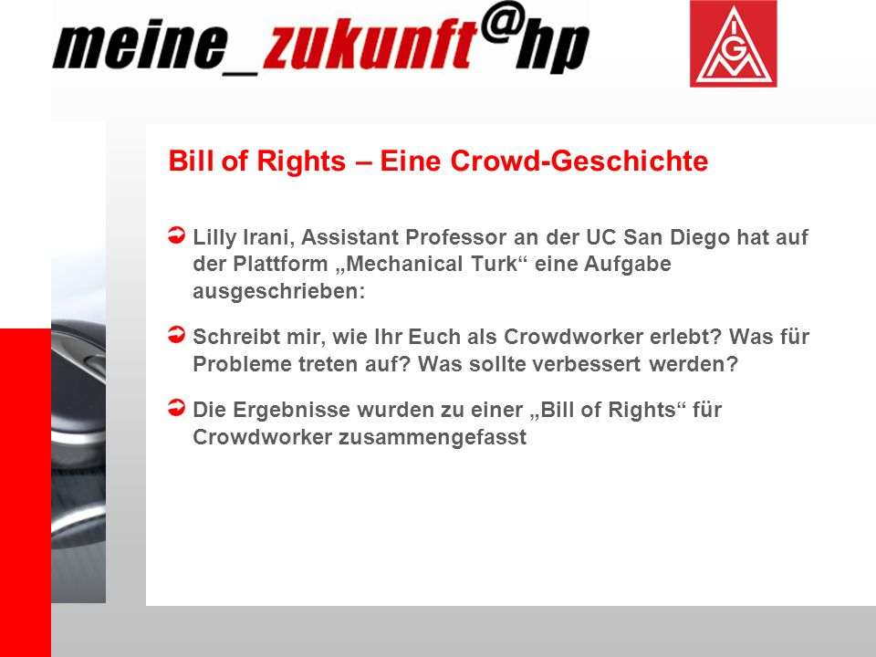 Bill of Rights – Eine Crowd-Geschichte
