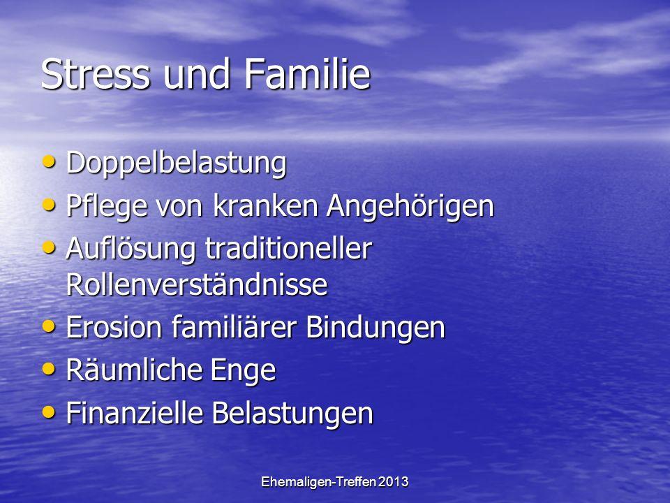 Stress und Familie Doppelbelastung Pflege von kranken Angehörigen