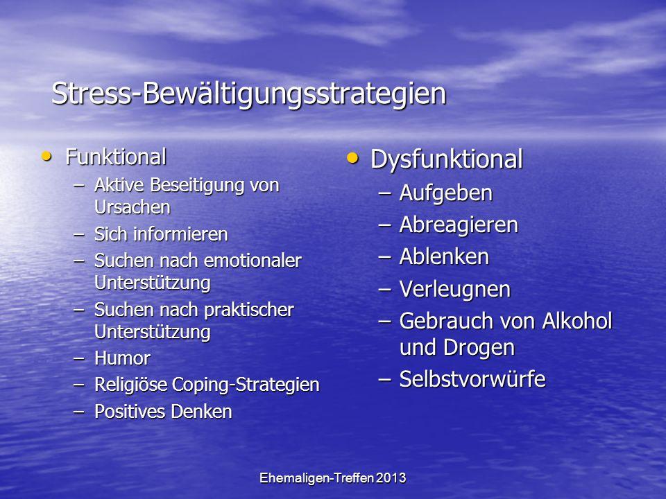 Stress-Bewältigungsstrategien