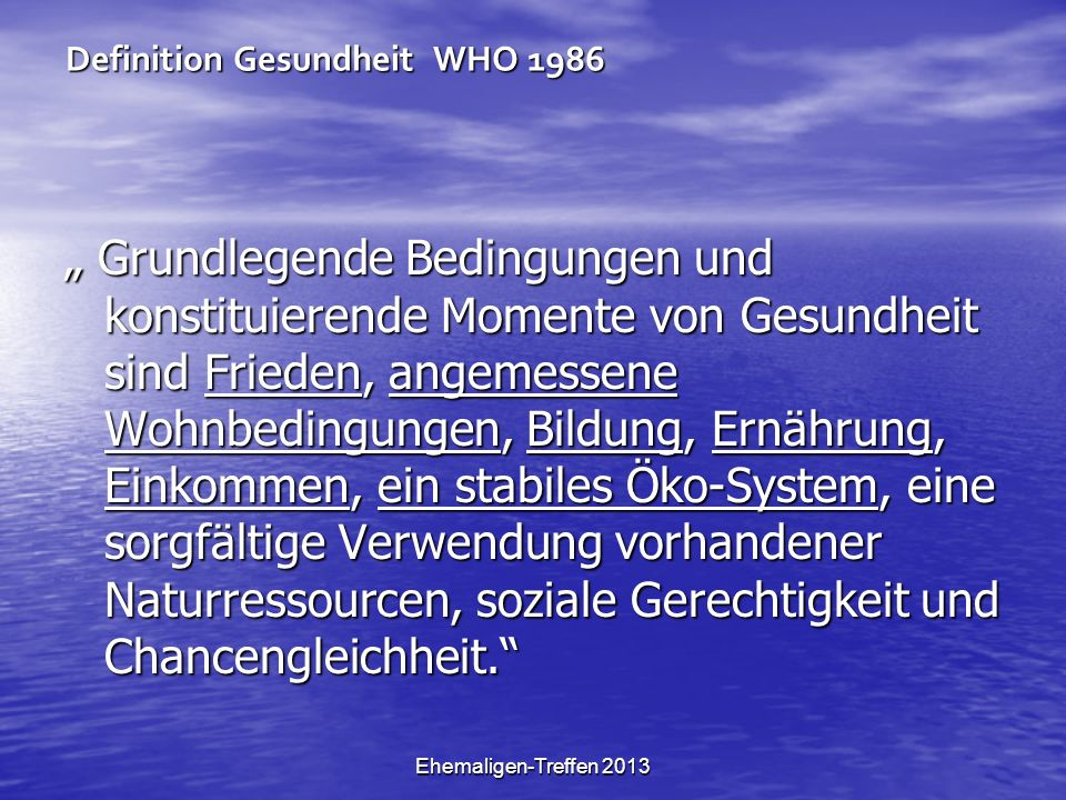 Definition Gesundheit WHO 1986