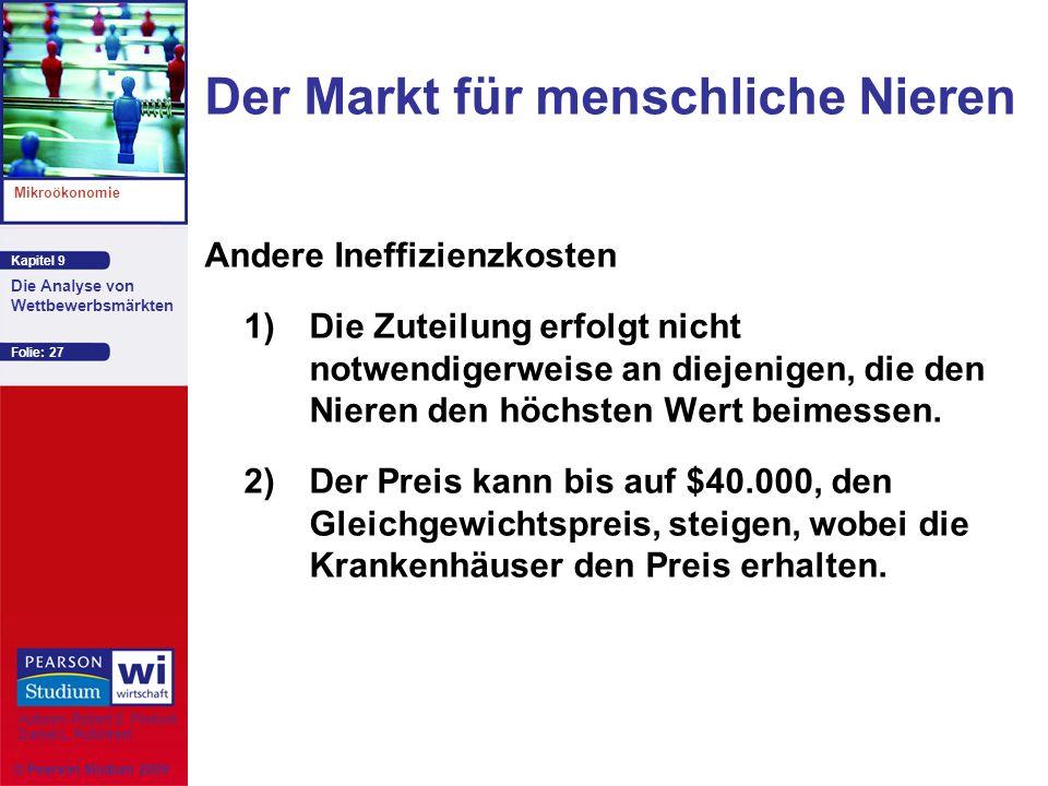Der Markt für menschliche Nieren