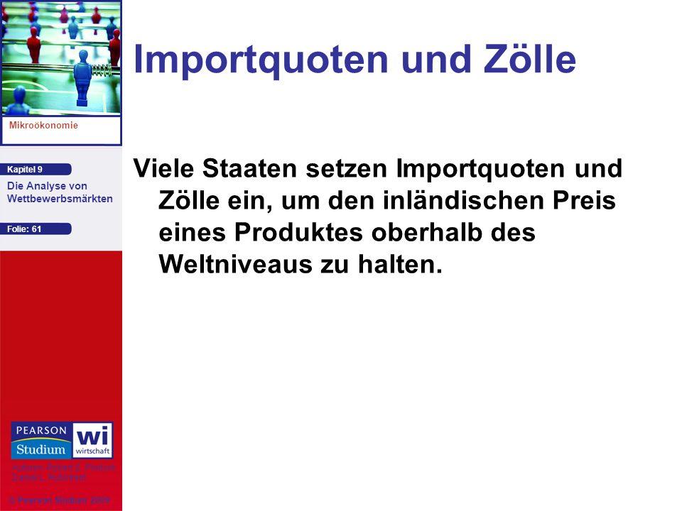 Importquoten und Zölle