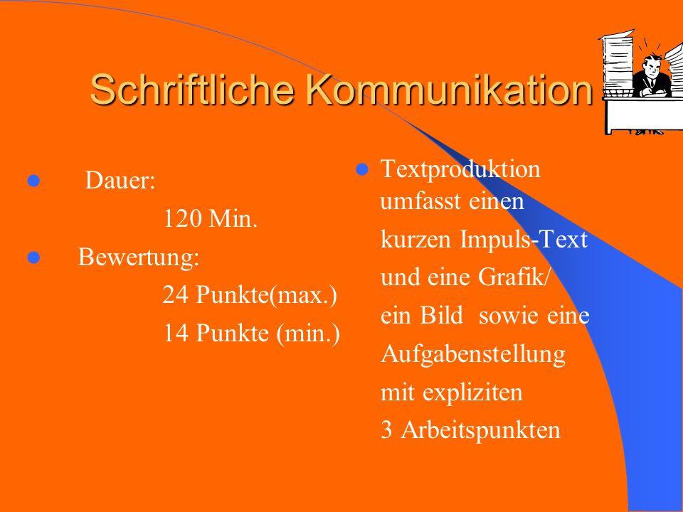 Schriftliche Kommunikation