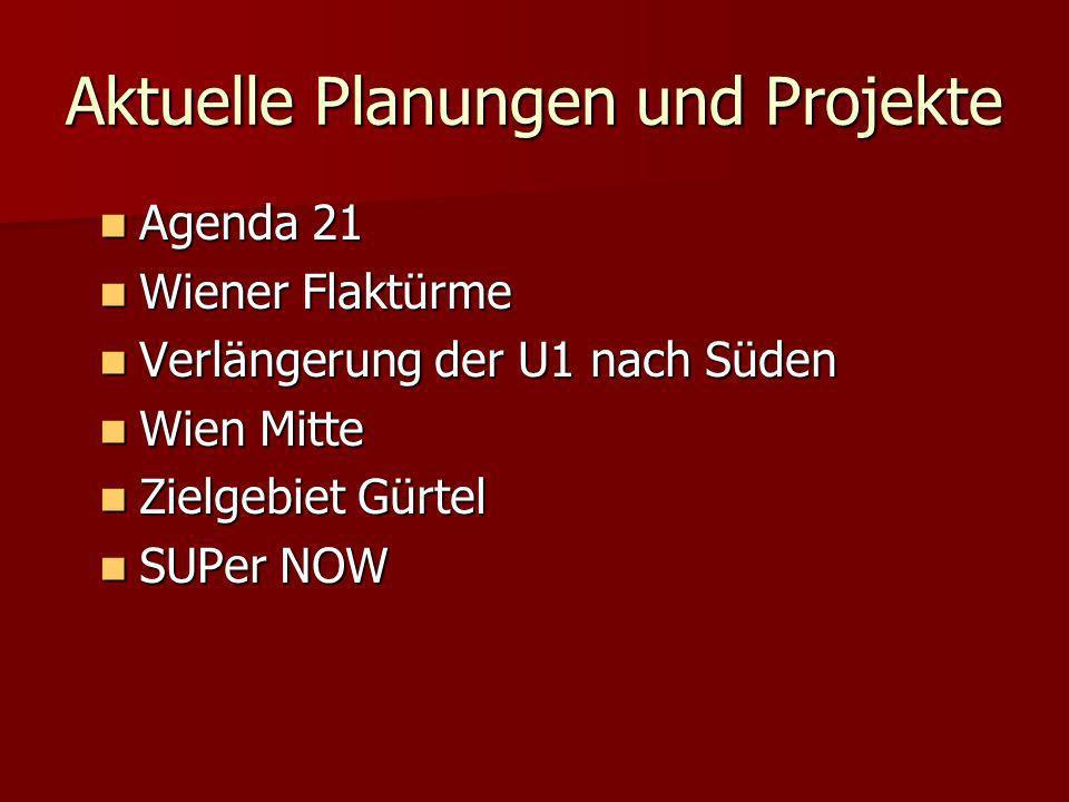 Aktuelle Planungen und Projekte