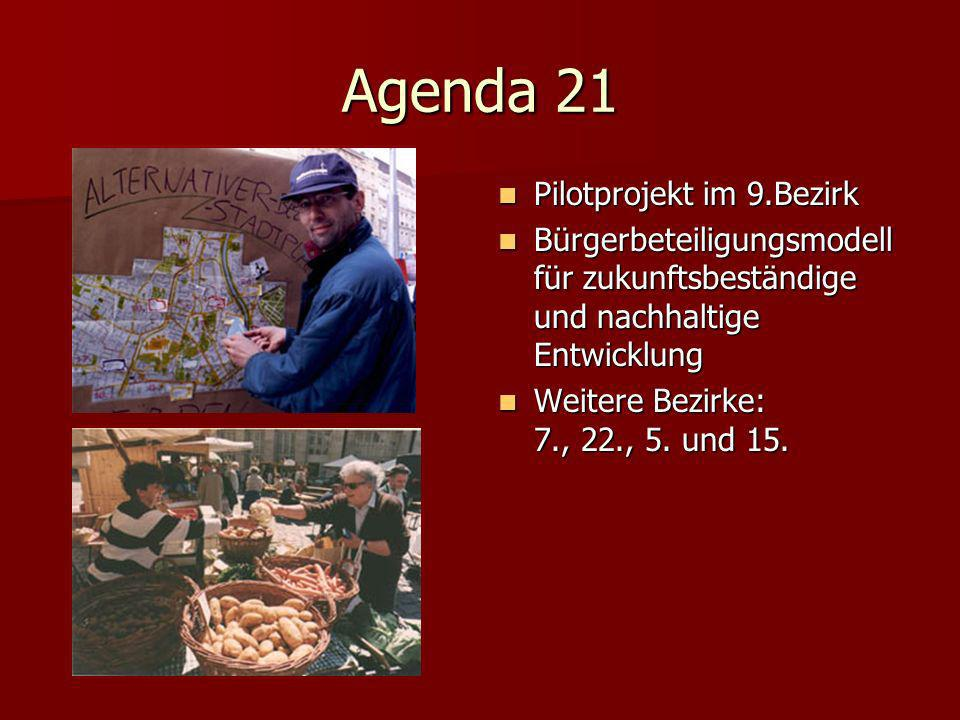 Agenda 21 Pilotprojekt im 9.Bezirk