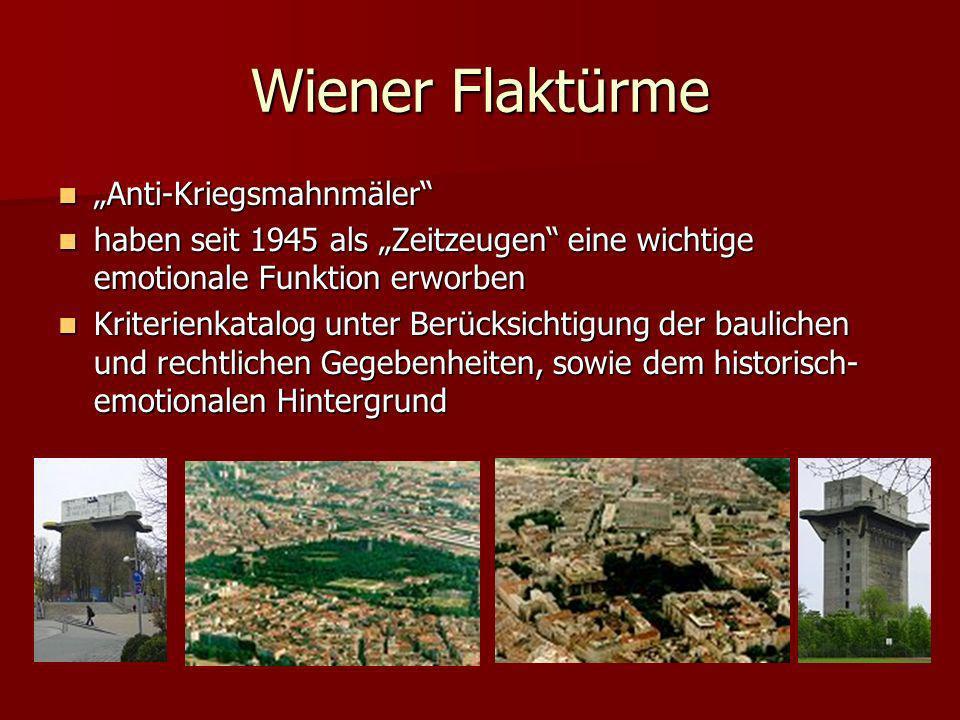 "Wiener Flaktürme ""Anti-Kriegsmahnmäler"
