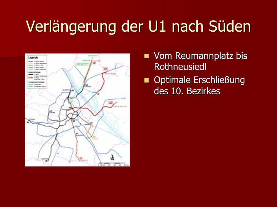 Verlängerung der U1 nach Süden
