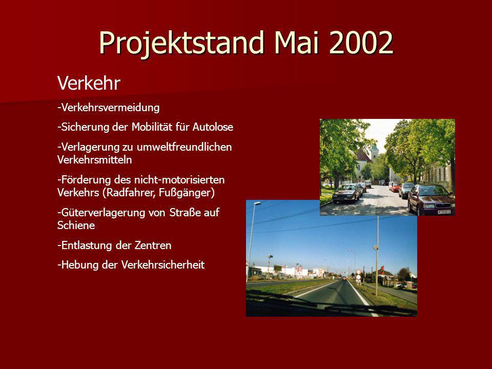 Projektstand Mai 2002 Verkehr Verkehrsvermeidung