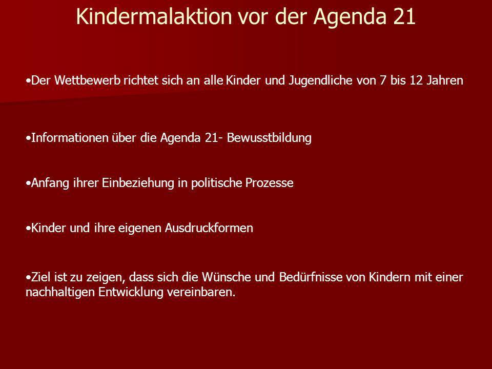 Kindermalaktion vor der Agenda 21