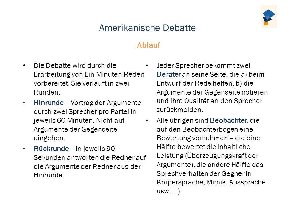 Amerikanische Debatte