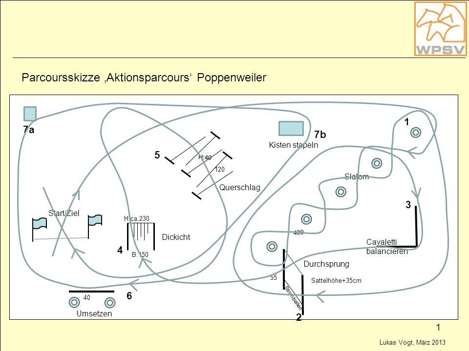 Parcoursskizze 'Aktionsparcours' Poppenweiler