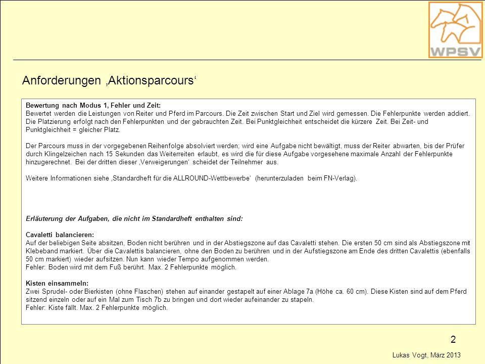 Anforderungen 'Aktionsparcours'